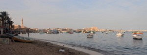 Boats in the Eastern Harbor of Alexandria.