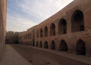 Western wall, inside Qaitbay Citadel.