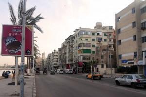 Street along the corniche in Alexandria.
