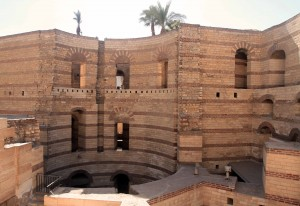 South Tower of the Fortress of Babylon, built in 300 AD (located next to the Coptic Museum).