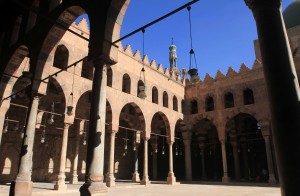 Inside the courtyard of the Mosque of Nasir Mohammed ibn Qalaun, built in 1335 AD.