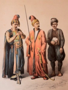 Picture of three police officers from the Ottoman era.
