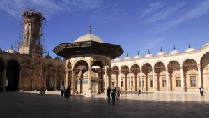 Another view of the courtyard in the Mosque of Mohammed Ali.