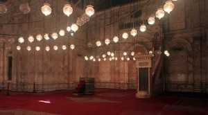 The mihrab inside the Mosque of Mohammed Ali.
