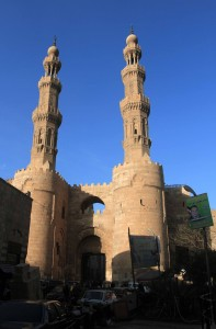 The stone gate and two high towers of Bab-Zuwayla, built in 1092 AD.