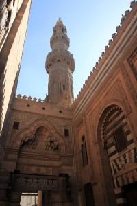 The entrance to Al-Azhar mosque.