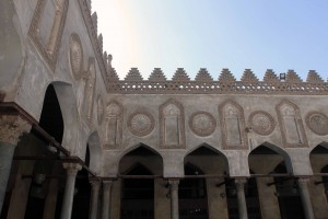 Closeup of the architecture in the courtyard of Al-Azhar mosque.