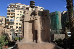 Statue in front of the Egyptian Museum.