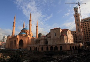 Mohammed Al-Amin Mosque and St. George Maronite Church.