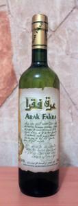 Arak Fakra liquor.