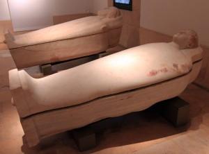 Anthropoid sarcophagi (5th-century BC).