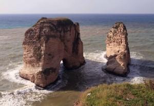 "Rawcheh Rocks (also known as ""Pigeon Rocks"")."