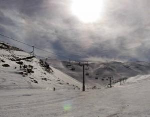"The ""Baby"" piste at Mzaar Ski Resort."