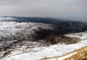 Looking toward the southwest from Mount Mzaar.