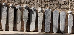 Islamic grave stones.