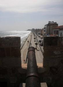 Canon facing south, toward the promenade.