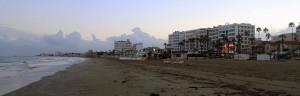 Foinikoudes Beach in Larnaca.