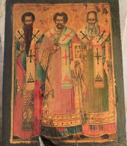 Painting inside St. Gabriel's Orthodox Church.