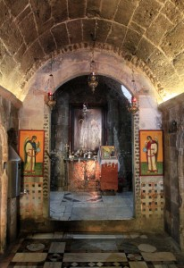 Corridor leading to the spring where the Annunciation occurred (according to Orthodox tradition), inside St. Gabriel's Orthodox Church.
