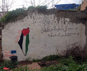Street art found in Nazareth, I can't read the writing, but I think it's pro-Israel.