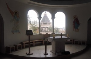 Inside the chapel at the Mary of Nazareth International Center.