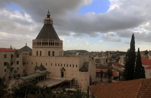 The Basilica of the Annunciation, the largest church in the Middle East.