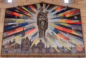 Mosaic of the Virgin Mary and Jesus Christ, from Croatia.