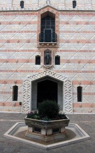 Side entrance to the basilica.