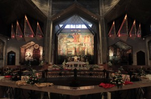 The altar in the Basilica of the Annunciation.