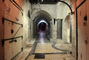Inside the Old Market, right next to the Synagogue Church (the traditional site where Jesus Christ read from the Torah scroll).