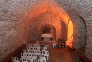 Inside the Synagogue Church - according to tradition, the church is built on the ruins of the ancient Nazareth synagogue where Jesus studied and prayed.