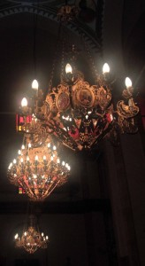 Chandeliers in the Greek Catholic Church.