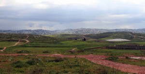 Looking back at Nazareth in the distance.