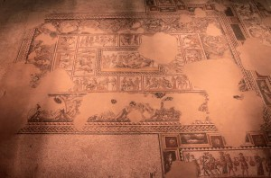 "Floor mosaics in the ""Dionysus House."""