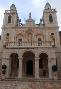 The facade of the Wedding Church in Cana, built on the site of Jesus' first miracle.
