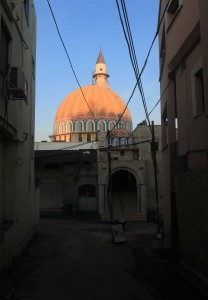 Mosque in Cana at sunrise.