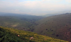 Looking back at the valley of the Arbel Stream.