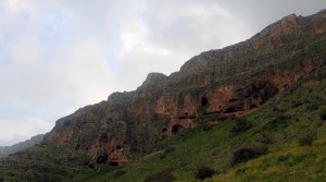 Caves used during the Maccabean Revolt, under the Arbel cliffs.