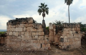 Ruins at Horvat Minya (a palace from the eighth-century AD).