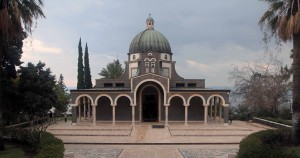 The Roman Catholic Chapel at the top of the Mount of Beatitudes.