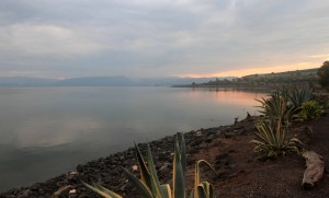 The Sea of Galilee seen from Capernaum.