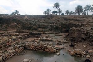 Ruins in the temple area at Tel Megiddo.