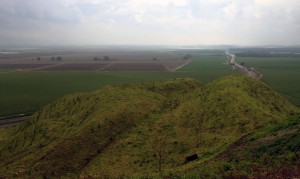 View from the southern observation point.
