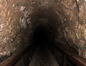 The secret tunnel to the spring at Tel Megiddo.