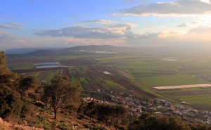 The Jezreel Valley seen from Mount Tabor.