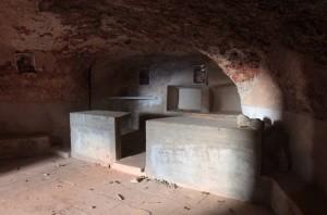 "Inside the ""Cave of Melchizedek."""