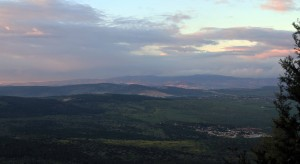 Looking north from Mount Tabor.