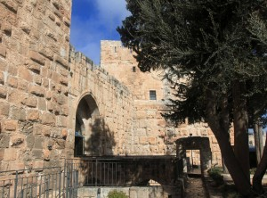 The entrance to the Tower of David.