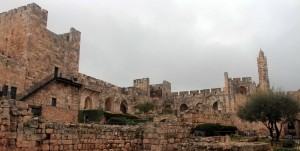 View of the citadel from the archaeological park.