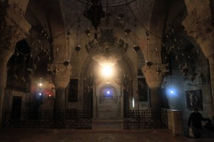 The Saint Helena Chapel inside the Church of the Holy Sepulchre.